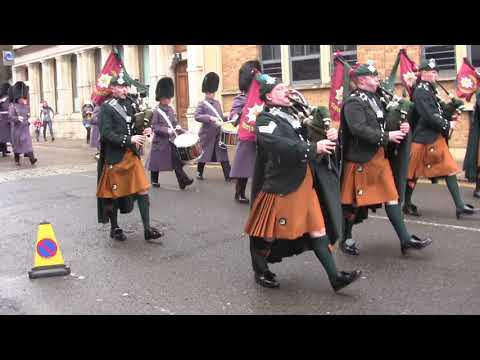 Pipes & Drums of the Irish Guards, Windsor, March 10, 2018