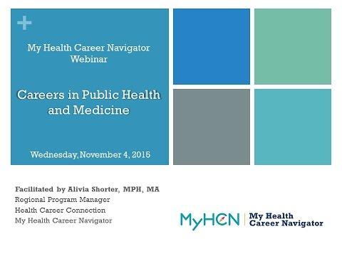 Careers in Public Health & Medicine
