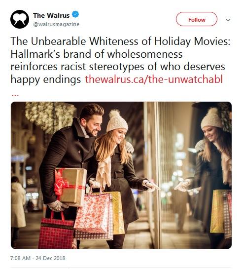 CHRISTMAS 2018 - FESTIVE FILMS ARE RACIST