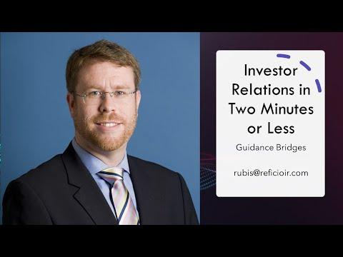 Investor Relations: Guidance Bridges