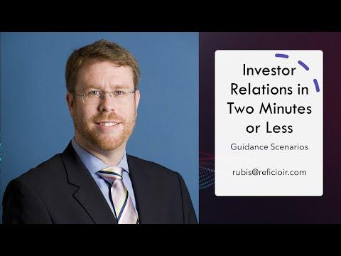 Investor Relations: Guidance Scenarios