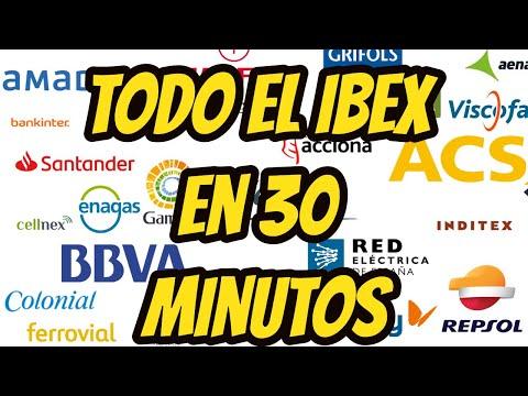 Todas las acciones del IBEX en 30 minutos
