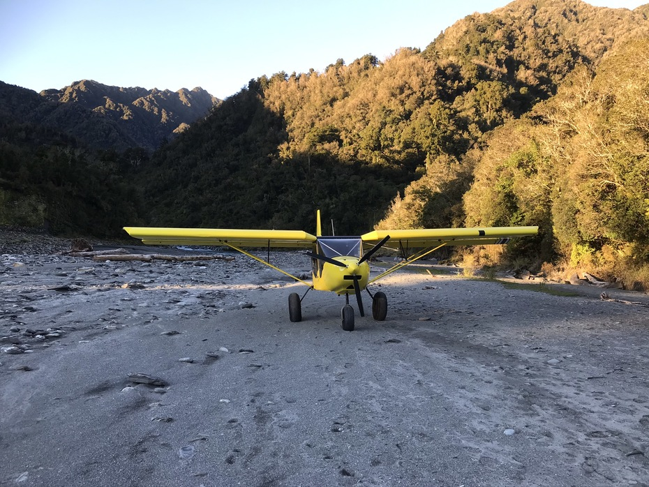 STOL CH 750 on river bed