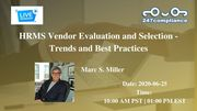 HRMS Vendor Evaluation and Selection - Trends and Best Practices