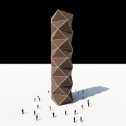 Perforated Polygon Facade Tower
