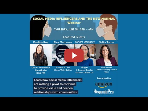 Social Media Influencers and the New Normal Webinar