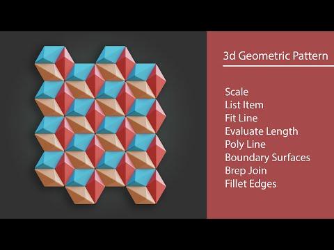 Grasshopper Exercises - 10 - 3d geometric pattern