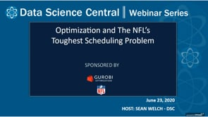 DSC Webinar Series: Optimization and The NFL's Toughest Scheduling Problem