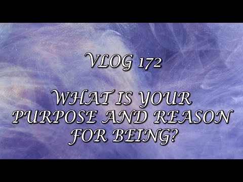Vlog 172 - WHAT IS YOUR PURPOSE AND REASON FOR BEING?
