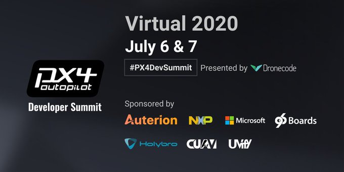 PX4 Developer Summit coming up, July 6-7 -- FREE