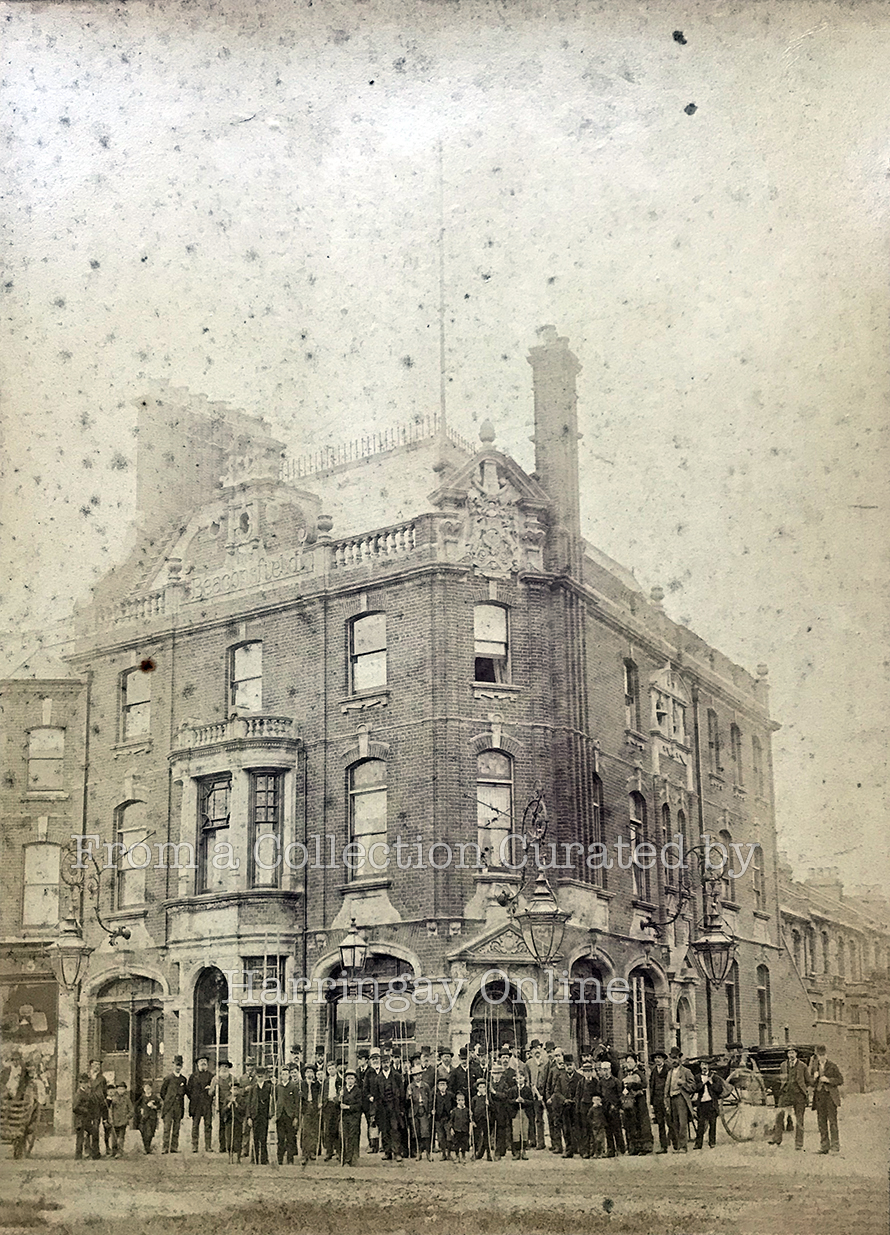 Beating the Bounds 1893 (1) - Outside The Beaconsfield, Harringay