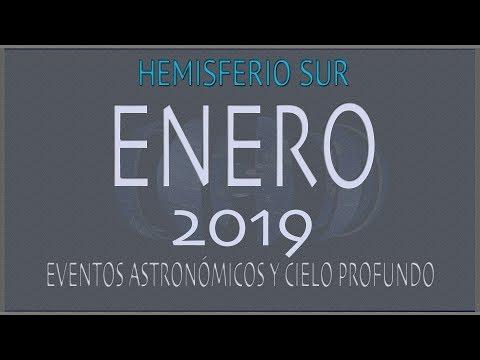 CIELO DE ENERO 2019. HEMISFERIO SUR