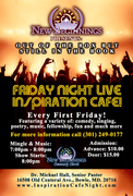 FRIDAY NIGHT LIVE INSPIRATION CAFÉ NEW SEASON 2019