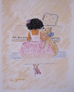 Little girl at the piano