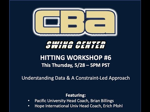 Swing Center Workshop #6 | Data & A Constraint-Led Approach