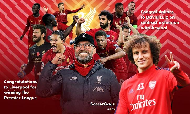 Congratulations to Liverpool & Luiz