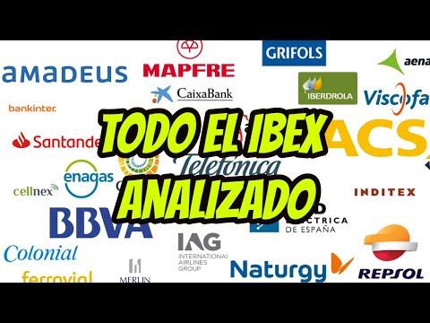 Las acciones del IBEX analizadas