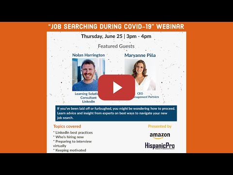 Job Searching During Covid-19 Webinar