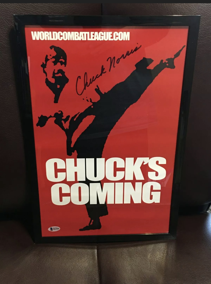 Chuck Norris Signed Poster.
