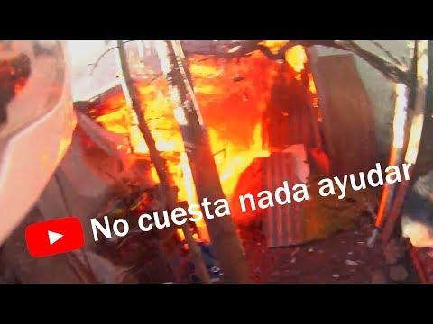 CAMARA EN CASCO DE CARABINERO: INCENDIO COMUNA PEÑAFLOR (EL JEFE DE BOMBEROS UN POLICÍA?) - CHILE