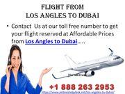 Los Angles to Dubai Flights
