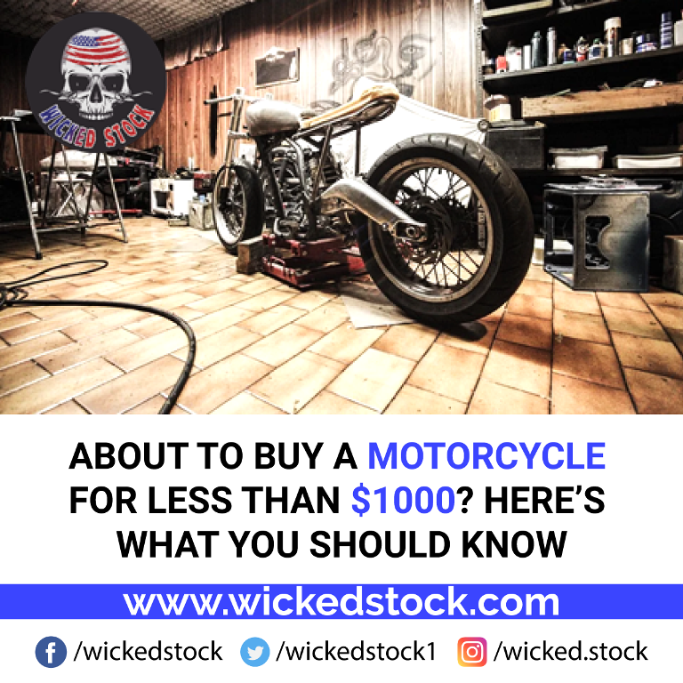 About to buy a motorcycle for less than $1000? Here's what you should know