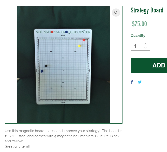 NCC Pro Shop: Magnetic Strategy Board - Forums - Croquet Network