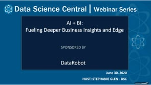 DSC Webinar Series: AI + BI: Fueling Deeper Business Insights and Edge