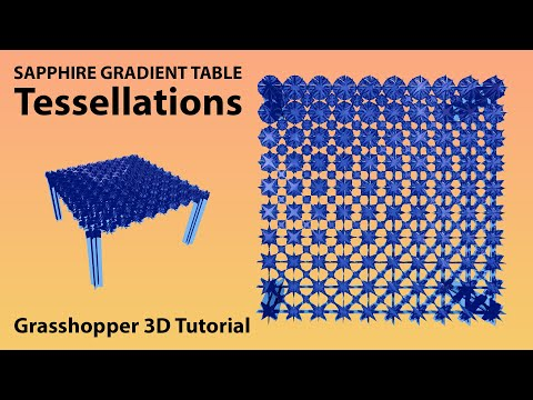 Furniture gradient tessellation tutorial in Grasshopper3d