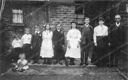 Martin family in the Back Yard at 31 Myddleton Rd c1910