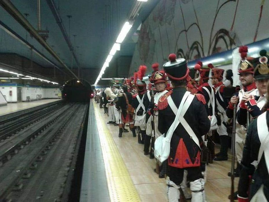 French Troops on their way to Waterloo