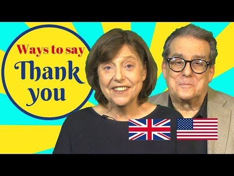 9 ways to say thank you in British and American English