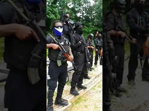 NFAC LEADER GRANDMASTER JAY JULY 4th BLACK GUNS FORMATION ON STONE MOUNTAIN