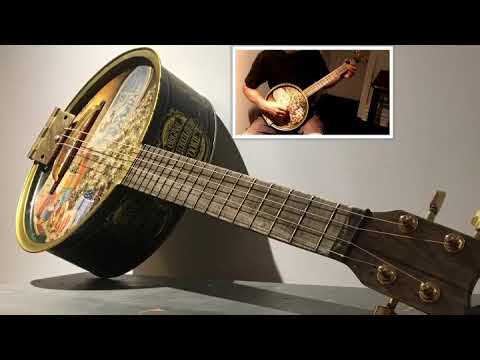 4-String Christmas cookietin guitar