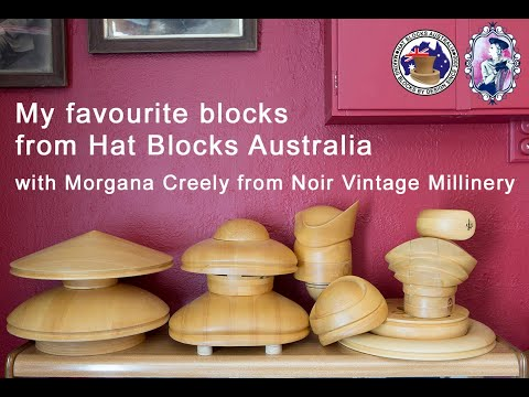 My favourite Blocks with Hat Blocks Australia - Noir Vintage Millinery