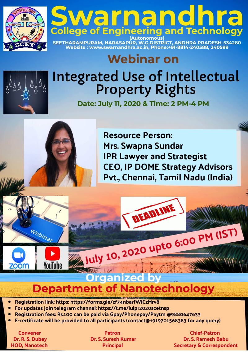 Integrated Use of Intellectual Property Rights on July 11, 2020
