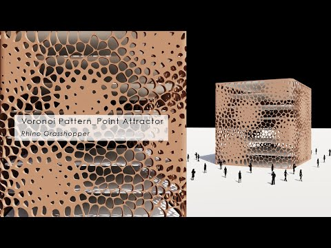 Voronoi Pattern Facade Point Attractor Rhino Grasshopper Tutorial