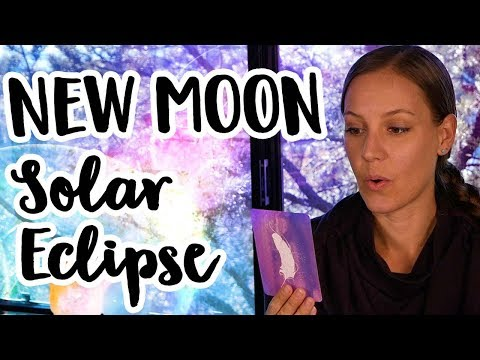New Moon Solar Eclipse Angel Card Reading - Expanding Into Higher Light