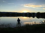 Fishing at Twin Lakes in Boulder