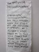 The Quarantine Correspondence