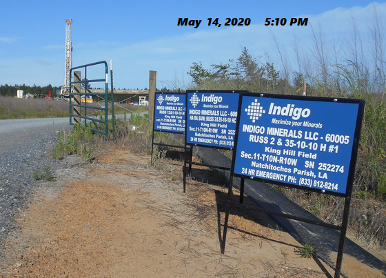 Natural Gas Drilling In NW Natchitoches Parish, La. on May 14, 2020.