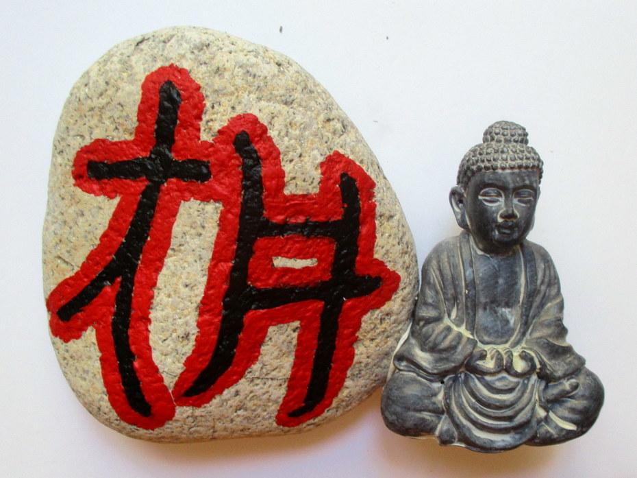 Stone Art with Buddha