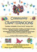 Community Crafternoons - Tuesday 22nd January 2019, 2pm