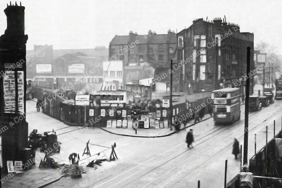 Rebuilding Station Place Finsbury Park 1938
