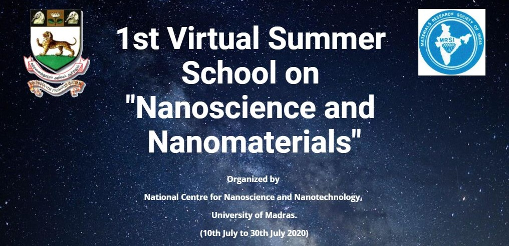 1st Virtual Summer School on Nanoscience and Nanomaterials