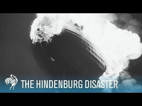 Hindenburg Disaster: Real Zeppelin Explosion Footage (1937)   British Pathé