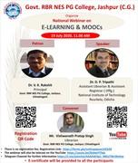 "Online National Webinar on ""E Learning and MOOCs"""