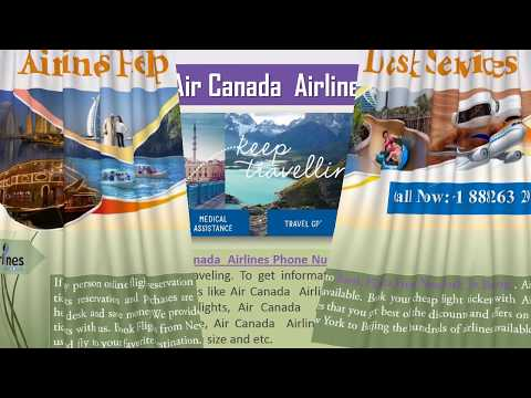 Book Flight with Low-Fare | Call at Air Canada Airlines Phone Number +1 888 263 2953