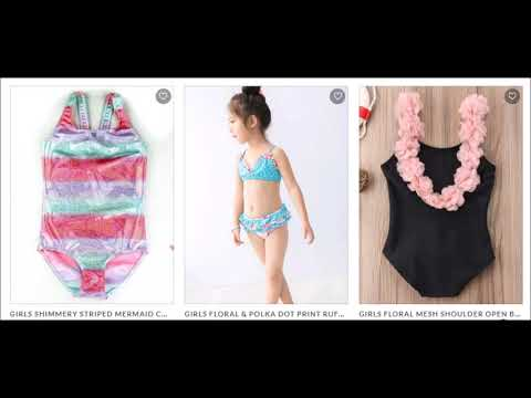 Adorable and unique one piece, two piece and rash guard swimsuits for your little girl!