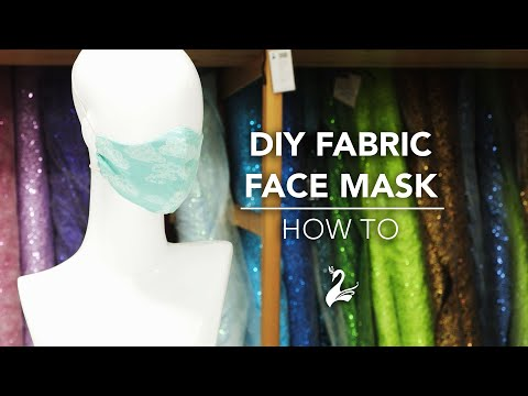 How to make your own fabric face mask with filter pockets. Simple DIY sewing project to do at home.